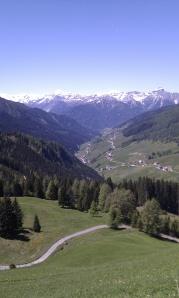 Blick in die Stubaier Alpen