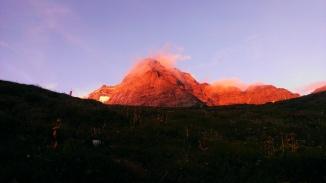Sonnenuntergang am Fußstein