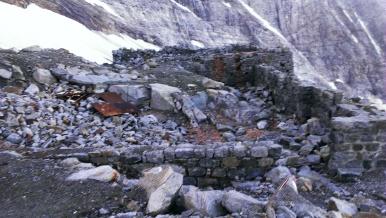 Überreste vom Lager