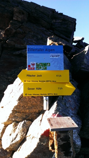 Auf der Alpeiner Scharte