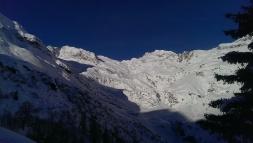 Blick Richtung Schneespistze