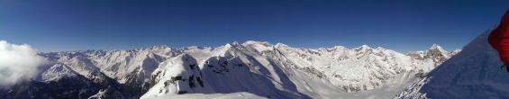 Traumpanorama in die Stubaier Alpen
