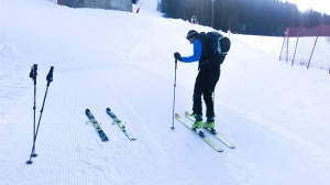 1. Skitour Bergeralm mit Papa