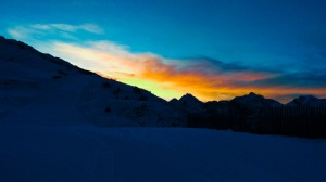 traumhafter Sonnenuntergang Bergeralm